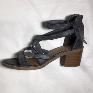 Kitten Heel Strappy Sandals